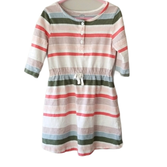 🎈Kids 2 /$14🎈Old Navy stripe dress 5T coral